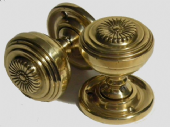 Decorated Victorian Brass Door Knob